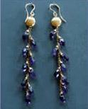 Amethyst & Vermeil Earrings
