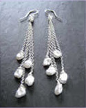 Keishi Pearl Cascade Earrings