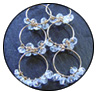 Aquamarine Cascading Hoop Earrings